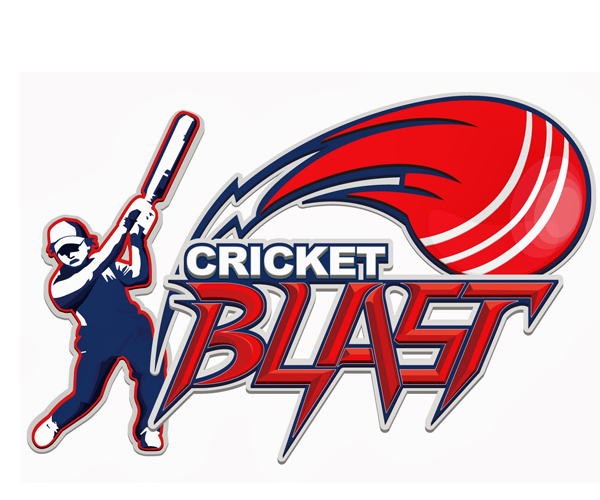 cricket-blast-logo-design-creative-idea