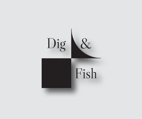 dig-fish-logo-design