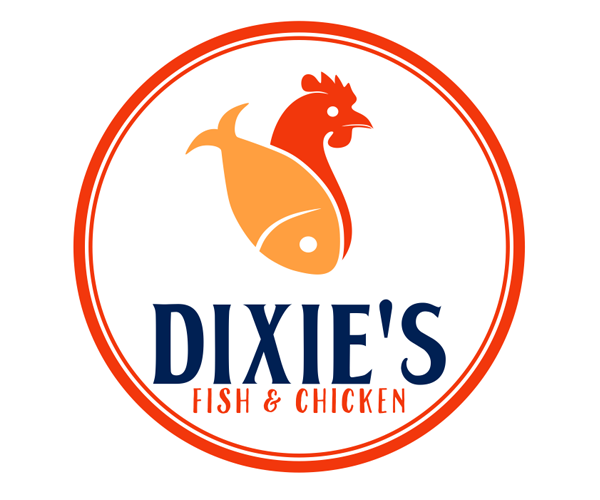 dixies-fish-and-chicken-logo-design