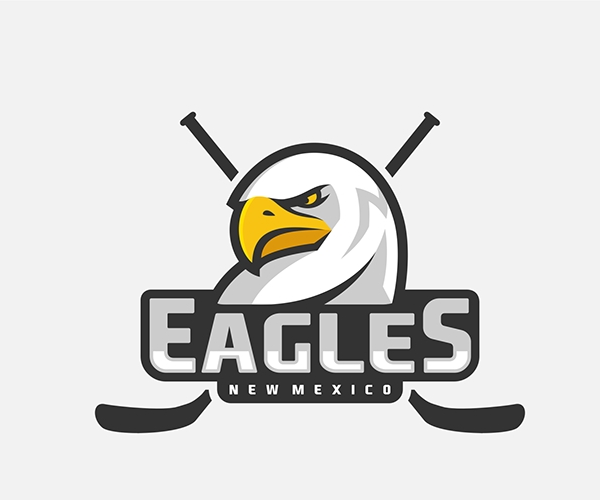 eagles-newmexico-hockey-logo-design