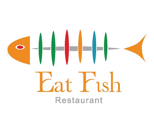 eat-fish-restaurant-logo-design