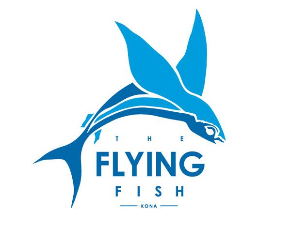 flying-fish-kona-logo-design