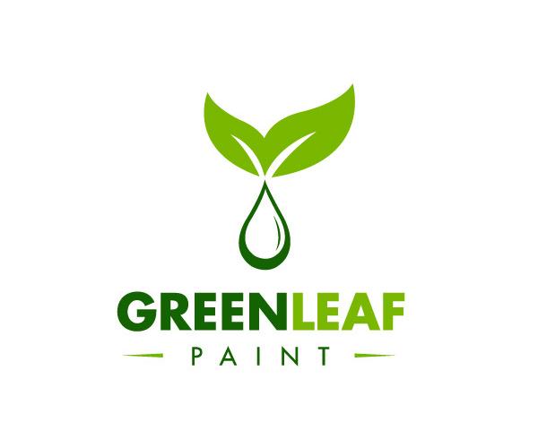 green-leaf-paint-logo-design