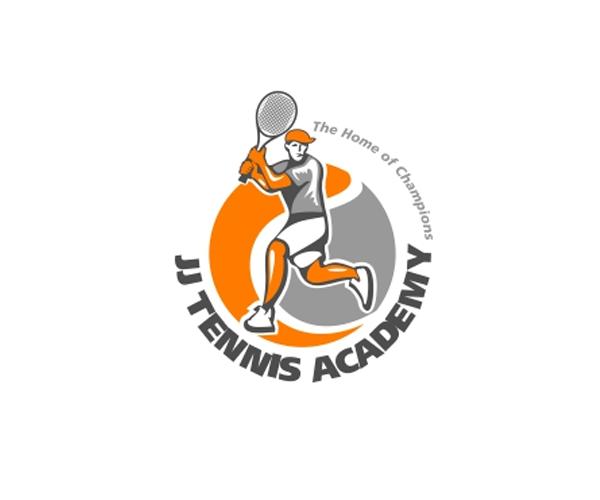 jj-tennis-academy-logo-design