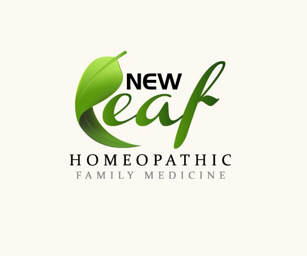 new-leaf-home-opathic-logo-design