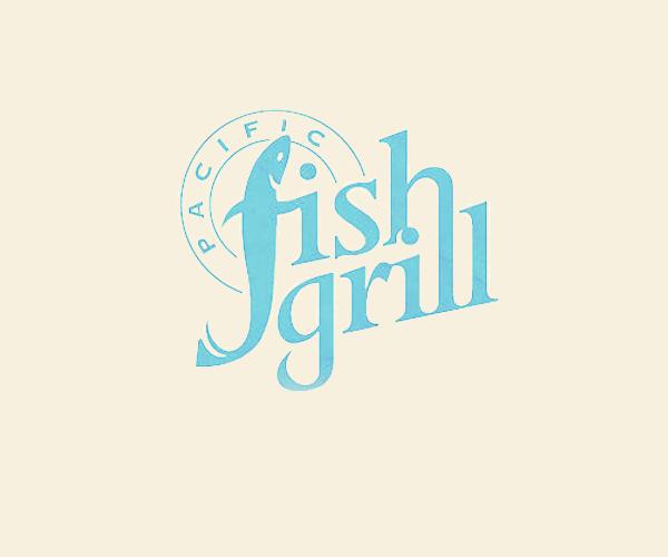 pacific-fish-grill-logo-design