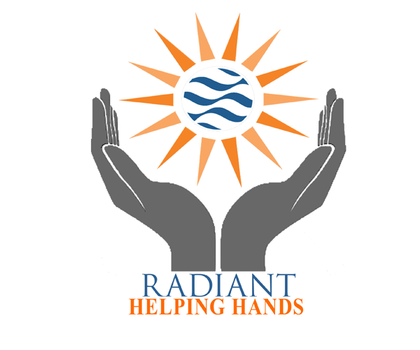 radiant-helping-hands-logo-design