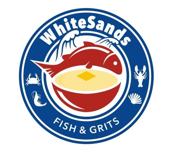 shite-sands-fish-and-grits-logo-design