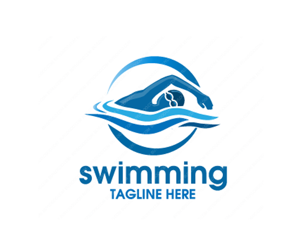 swimming-Logo-Design-free-download