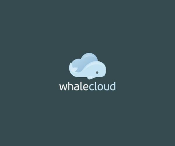 whale-cloud-logo-design