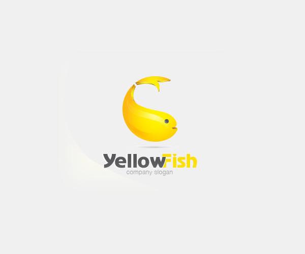 yellow-fish-company-logo-design-free