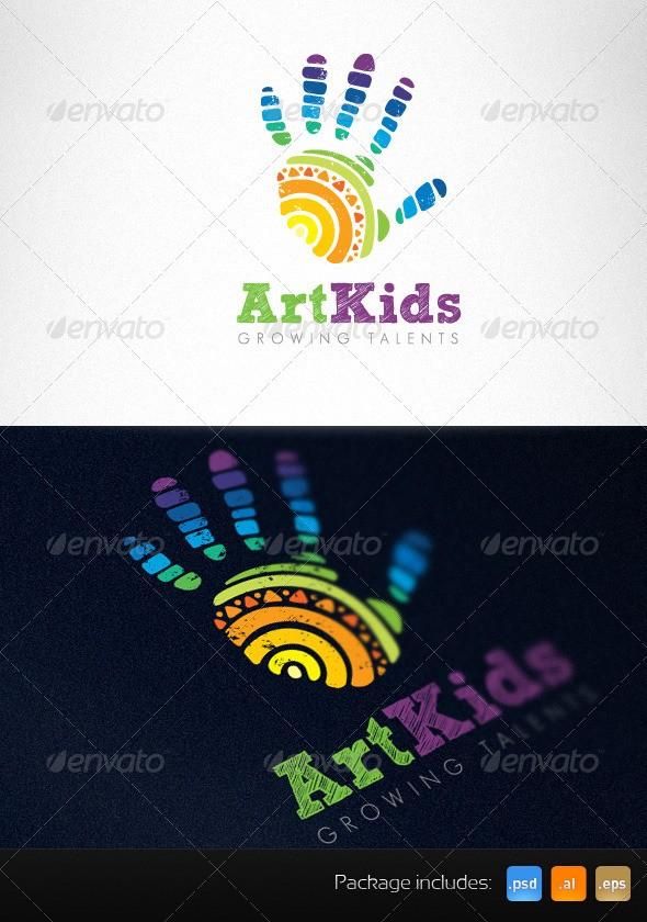 Art Kids Studio Creative Logo Template