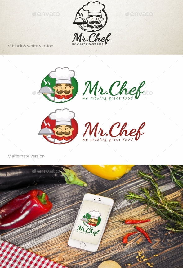 Mr.Chef-Logo-Template-download