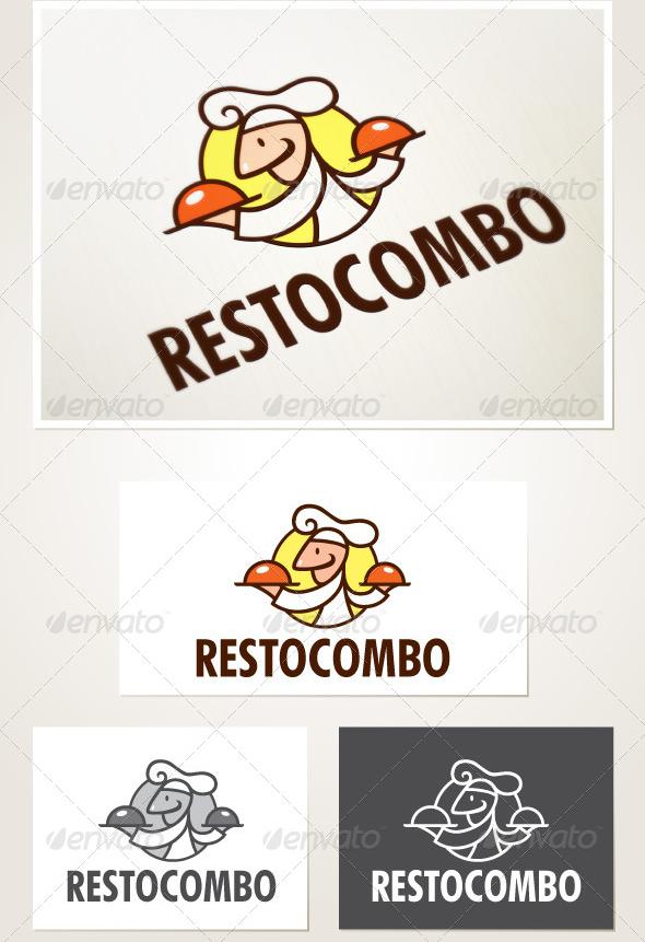 Resto-Combo-Logo-Template