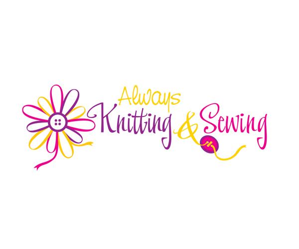 always-knitting-and-swing-logo-design