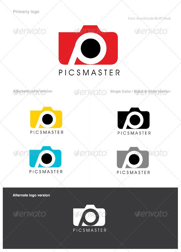creative logo design Template for photography