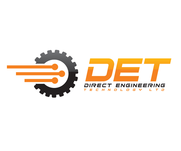 direct-engineering-technology-logo-design
