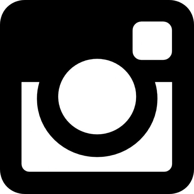 instagram black logo icon