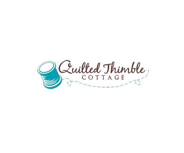quilted-thimble-cottage-logo-design