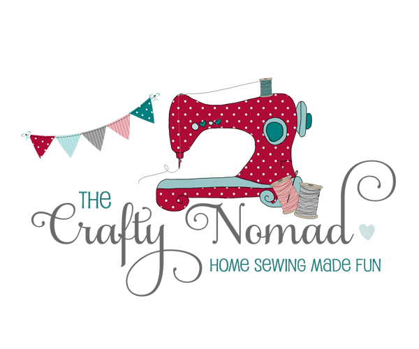 the-crafty-nomad-sewing-logo-design